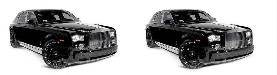 2 Black Rolls Royce Phantoms
