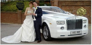 White Phantom wedding Car